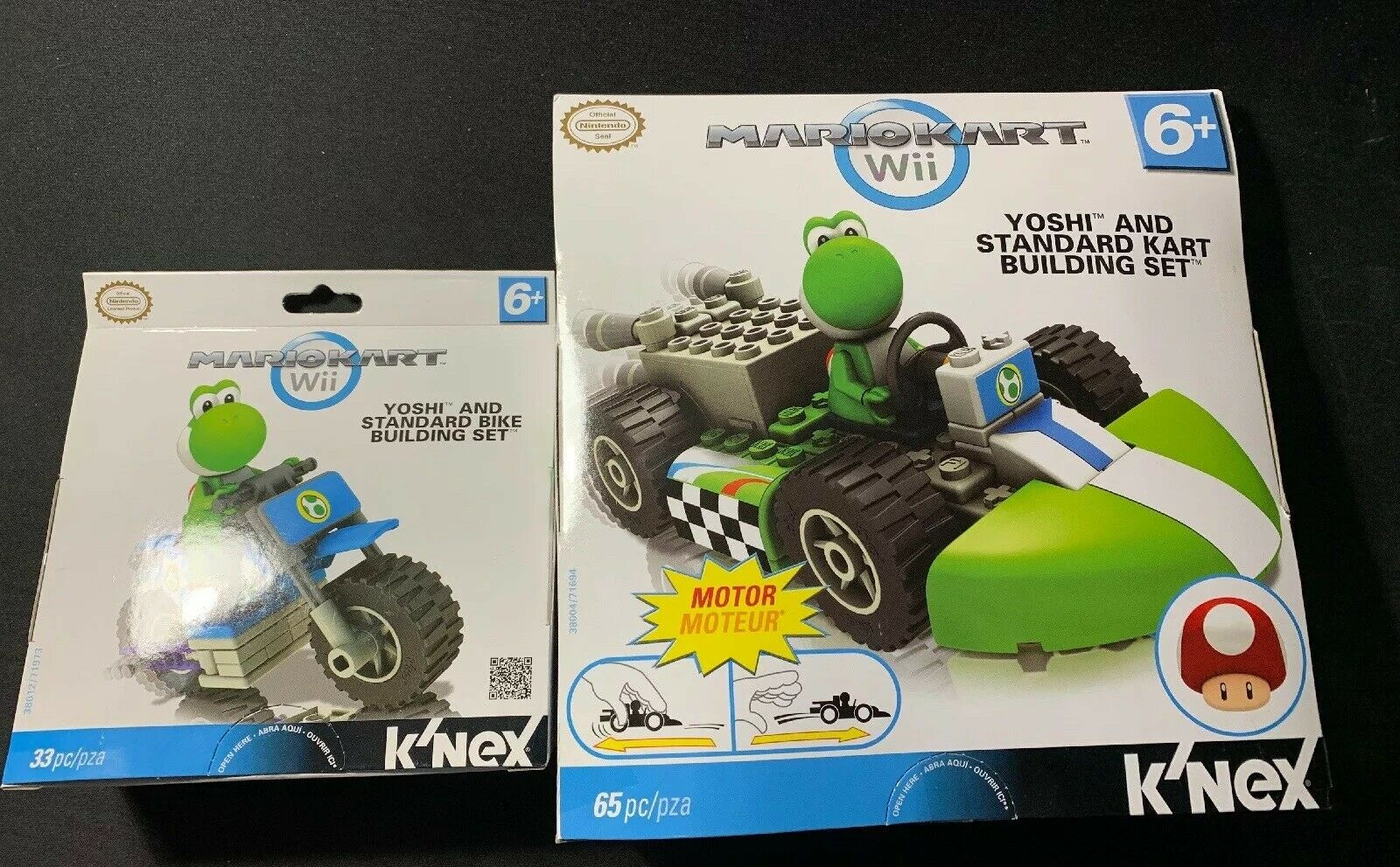 Wii Mario Kart - Yoshi Standard Kart + Bike Building Sets K'nex
