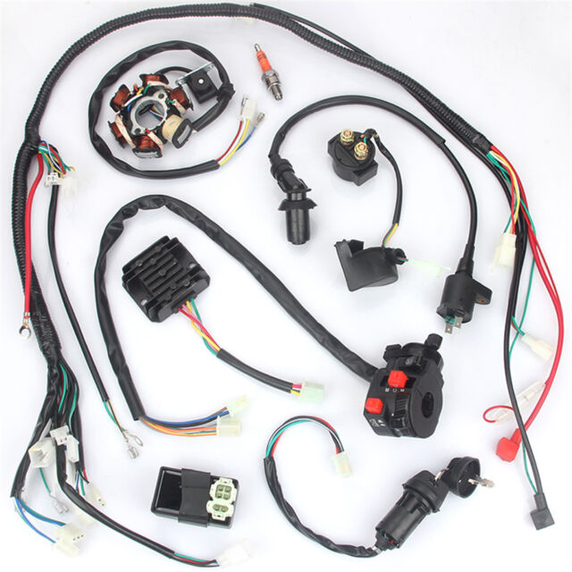 electric wiring harness kit magneto stator for gy6 125cc 150cc atvelectric wiring harness kit magneto stator for gy6 125cc 150cc atv quad scooter