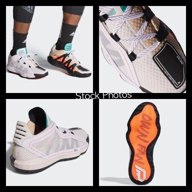 NEW Adidas Dame 6 Shoes Sneakers FW4508 ICE PURPLE MINT Men's Sz 12 Womens Sz 13