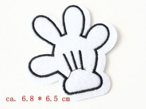 15 pièces RACCOMMODER patch avec des enfants Motifs à repasser patchwork noir blanc