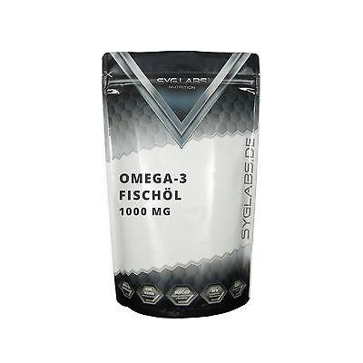 (1,74€/100g)Syglabs Omega 3 Fischöl 1000 mg - 1000 Gel Kapseln Beste Qualität