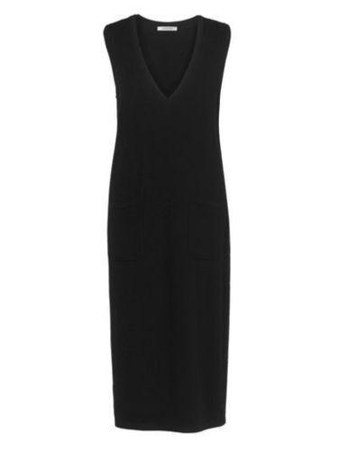 Artigiano robe sans hommeches noir taille L UK 14-16 LF171 CC 18