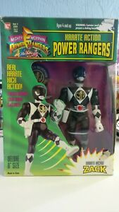 Power-Rangers-Zack-Karate-Kickin-Black-Deluxe-Bandai-1994-Action-Figure-8-inch