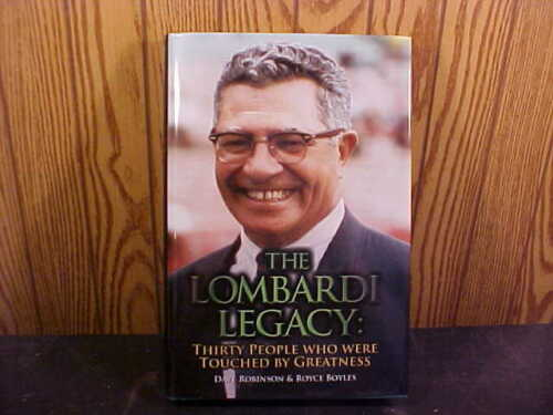 THE VINCE LOMBARDI LEGACY BOOK SIGNED BY DAVE ROBINSON HOF 2013 & BOB LONG
