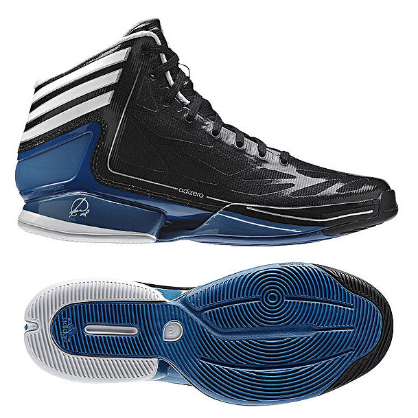 Adidas Basket-ball Adizero Crazy lumière 2 paniers Chaussures Taille 40-50, 5 Noir
