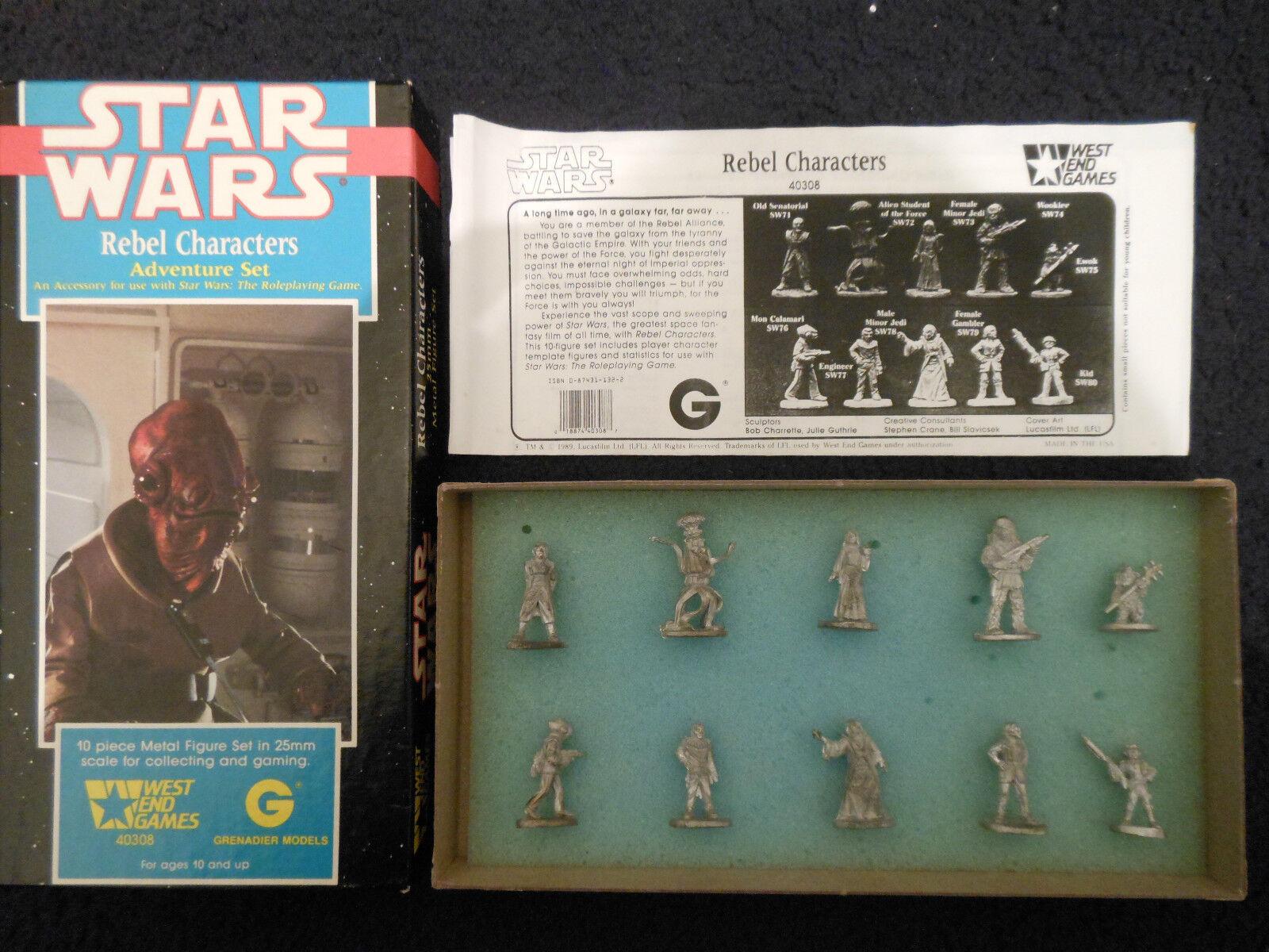 1989 Rebel caracteres Granadero West End Games Star Wars Aventura conjunto 40308 Weg