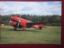 POSTCARD LONDON DH88 COMET AEROPLANE
