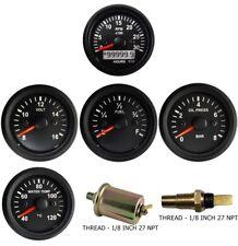 3k Tachometer Alt Oil Pressure Temperature Volt Fuel Temp Amp Oil Sensor