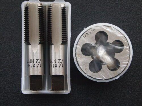 NPT TAP DIE SET 1//2 x 14 tpi PLUG TAPER COMBINE PACK