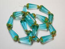 50 beads Rainbow Picasso Luster Czech Glass Teardrop Beads 4x6mm