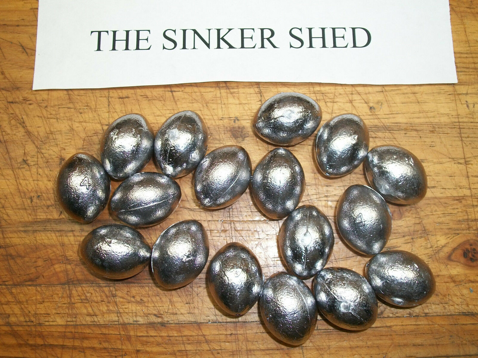4 oz egg slip sinkers  - quantity of 6 12 25 50 100 240 - FREE SHIPPING