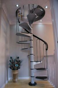Image Is Loading AF26 Petite Small Diameter Spiral Staircase Kit Stairs