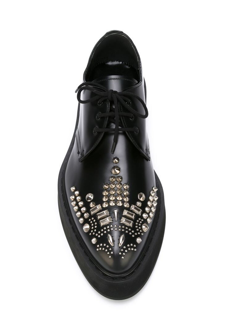 stile classico  835 835 835 NEW Alexander McQueen 36.5 Studded Leather Lace-up Platform Brogues nero  prezzo all'ingrosso