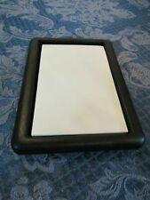 Black Leather Desk Office Table Organizer Supplies Paper Holder Storage Notepad