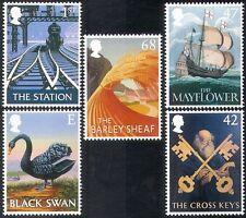 GB 2003 Steam Engine/Trains/Swan/Sailing Ship/Birds/Pub Signs 5v set (n22488)