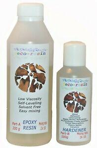 Resina-Epoxi-300g-Transparente-Baja-Viscosidad-2-1-cura-facil-rapido-de-mezcla