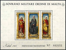 Souvereign Military Order Of Malta 1971 Christmas MNH M/S #D49477