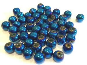 Choice of Colour and Size Electroplate Glass Beads BX6 UK Seller