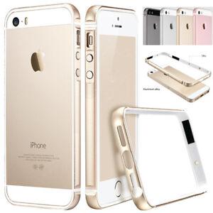 Shockproof-Soft-TPU-Metal-Aluminum-Bumper-Case-Cover-for-Apple-iPhone-SE-5-5s