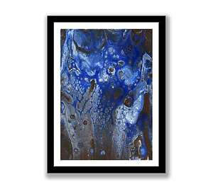 Blue-Abstract-acrylic-Print-of-painting-In-7-034-x-5-034-unique-gift-ID-1380