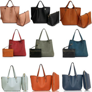 Women S Faux Leather Tote Grab Handbags