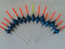 HAND MADE POLE FISHING FLOATS - RIZOV RF89 - 15 PIECES - 0.1/0.2/0.3 GRAMS