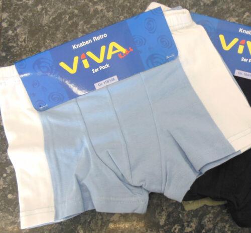 2er Pack jeunes Retroshorts Boxer Shorts Blanc bleu olive 116//128 NOUVEAU!!!