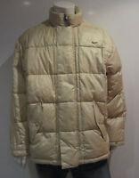 Nike Down Jacket [size Xl] Men's Winter Outdoor Beige & Vintage
