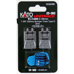 Kato-20-060-Rail-Fin-de-Voie-Bumper-Track-Type-D-35mm-2pcs-N