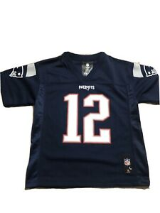 Details about New England Patriots Kids Jersey Large 7 Nwt Tom Brady # 12