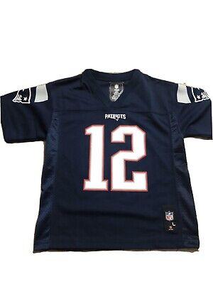 New England Patriots Kids Jersey Large 7 Nwt Tom Brady # 12 | eBay