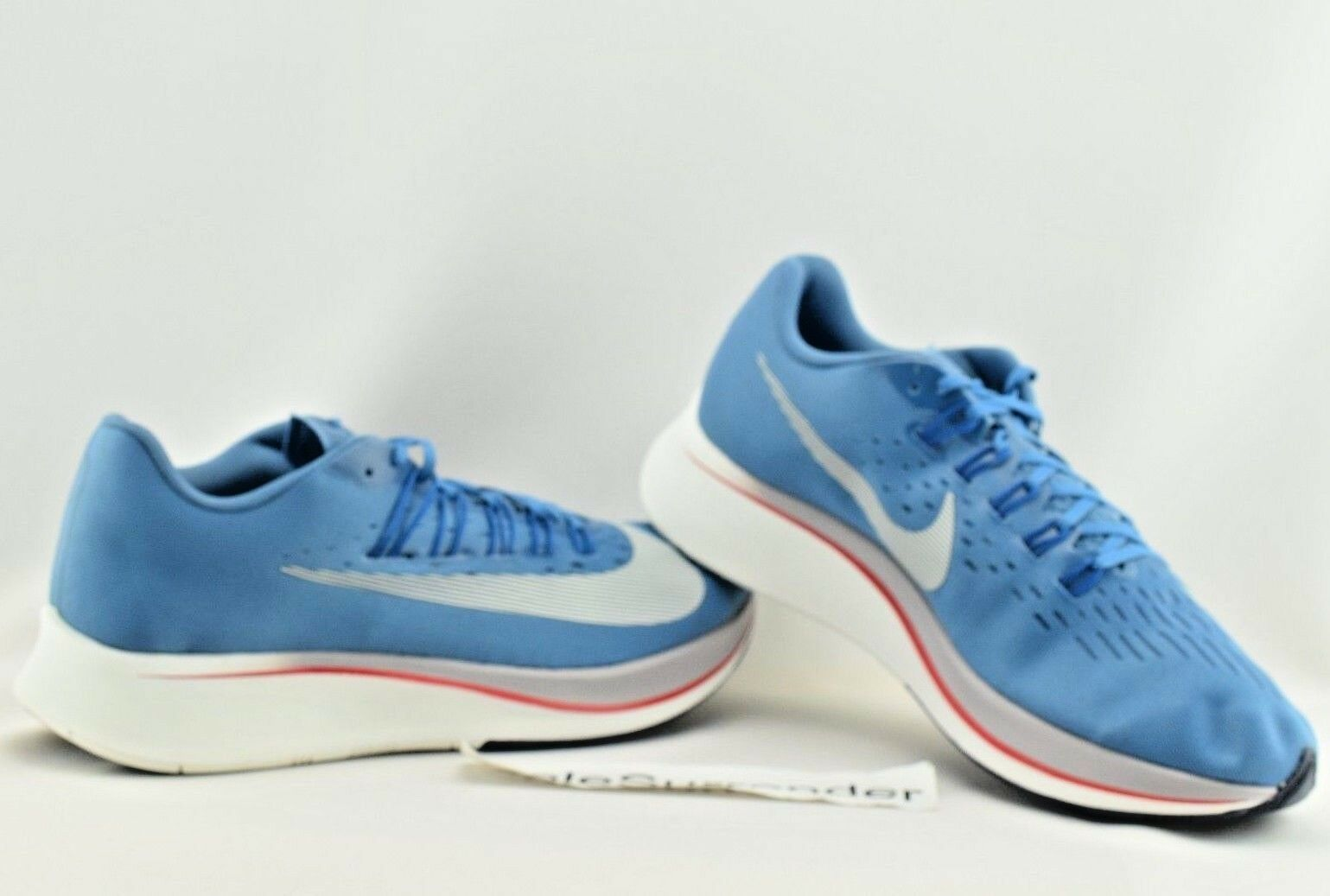 Nike Zoom Fly - SIZE 7.5 - NEW - 880848-402 Aegean Storm White Red Blue Street