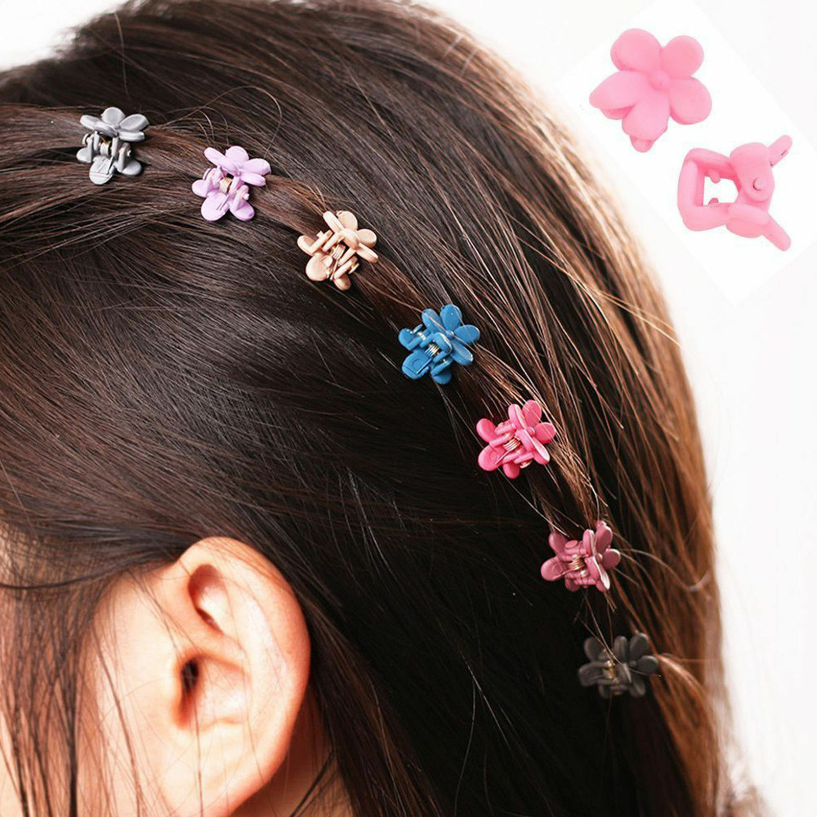 30x//Set Baby Girls Hairpins Mini Claw Hair Clip Clamp Flower Plastic Clips Tool