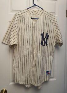 0b33db29b Vintage Custom BABE RUTH Yankees Jersey  3 Russel Athletics Size 46 ...