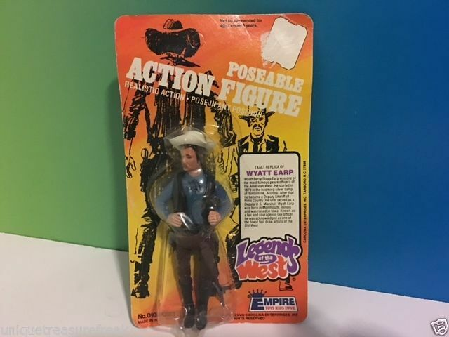 VINTAGE 1978 LEGENDS OF WEST WYATT EARP ACTION FIGURE EMPIRE TOYS MOC UNPUNCHED