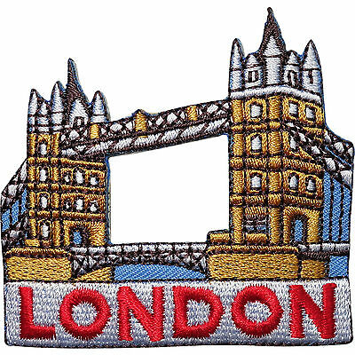 Famous London Tower Bridge Iron//Sew on Embroidered Patch applique