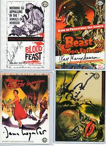 Classic Sci-Fi & Horror Posters Autograph Card Selection NM Breygent 2007