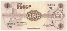 ANA Collector Currency One Dollar $1.00 Series 1988 Near Crisp