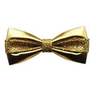 GOLD SEQUIN TUXEDO ADJUSTABLE BOWTIE BOW TIE-NEW GIFT BOX!GOLD SEQUIN BOW TIE