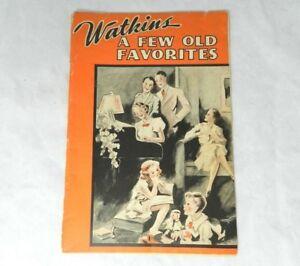 Vintage Watkins A Few Old Favorites Song Book 1940 Liniment