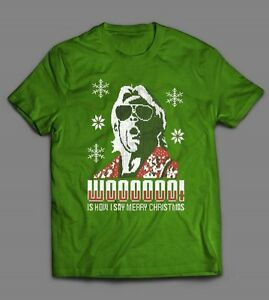 RIC FLAIR CHRISTMAS SWEATER STYLE *OLDSKOOL CUSTOM ART* Men Shirt ...