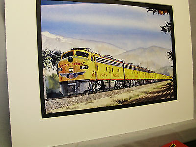Union Pacific  City of Los Angles Artist Illustrated  Color Railroad Archives HH