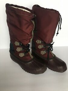 nice shoes cheap prices quality Womens Size 7 SOREL Freestyle Burgundy Boots Preowned | eBay