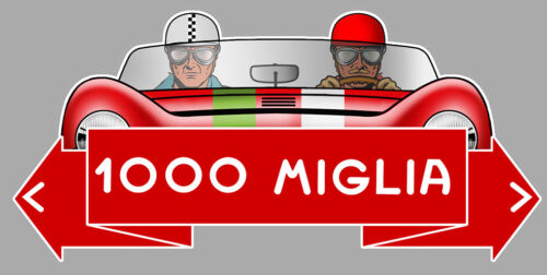 1000 MILLE MIGLIA MILLES RACING TRACK 12cm AUTOCOLLANT STICKER MB049