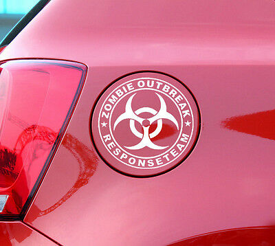 Zombie Outbreak Response Team Car Auto Truck Stickers Decals 110mm x 110mm NEW