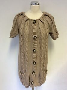 corta Up Button Knit 14 Oui Cardigan Taglia Chunky Manica Cable Moments Camel SxaqYp8