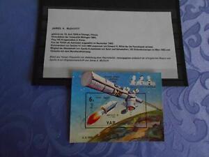 Apollo 9 Sheet original signiert James Mc Divih Space