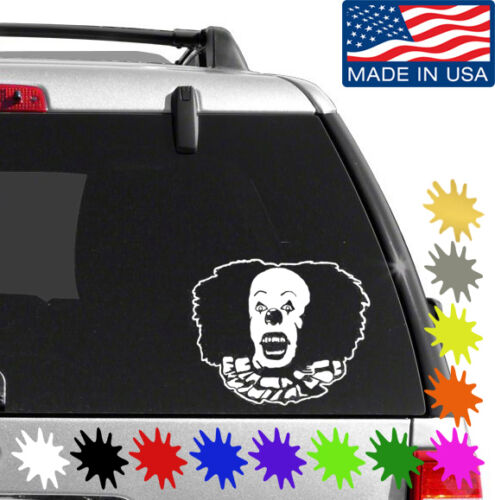 Pennywise The Clown Decal Sticker BUY 2 GET 1 FREE Choose Size /& Color IT 011