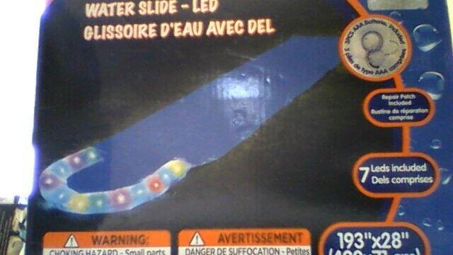 LED iluminados para aire libre para tobogán de agua (193  X 28 ) 7 LED iluminado con 3  AAA
