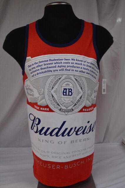 3fd83b9d0112f NEW Men s Budweiser Classic Logo Large Label Tank Top Size - LARGE ...